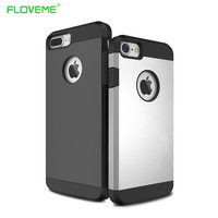 Hybird Shockproof Hard Case Cover For Iphone 6 6S 7 7PLus Luxury Armor Rubber Phone Cases For Apple Iphone 6S 6 7Plus Coque New