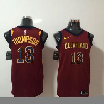 Nike Cleveland Cavaliers 13 Tristan Thompson Basketball Jersey Red Swingman Edition