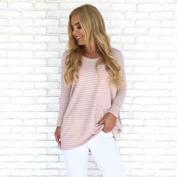 You're Making Me Blush Stripe Knit Top