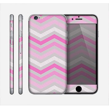 The Wide Pink Vintage Colored Chevron Pattern V6 Skin for the Apple iPhone 6