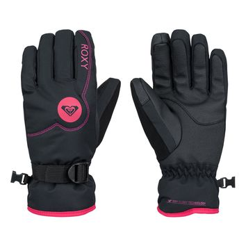 Girl's 7-14 Jetty Solid Snowboard Gloves 888701289210   Roxy