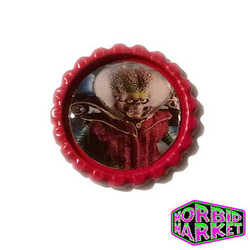 Mars Attacks Martian Red Horror Badge