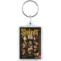 Slipknot Masks Plastic Key Chain Multi