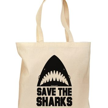 Save The Sharks Grocery Tote Bag