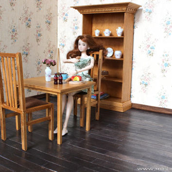 1/6 scale Chairs and Table Dining Set for dolls (Blythe, Barbie, Bratz, Momoko)