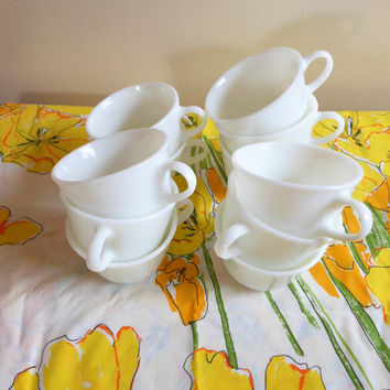 Pyrex Coffee Mugs, Opal Pyrex Coffee Cups, Milk Glass Coffee Mugs, Vintage White Coffee Cups, Corning Mugs, Corelle Mugs