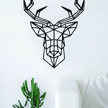 Deer Geometric Line Animal Design Decal Sticker Wall Vinyl Decor Art Living Room Bedroom Hunt