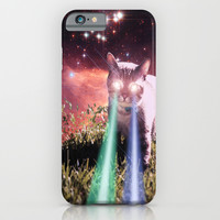 Mega Space Cat Rising iPhone & iPod Case by Hayley Sargent