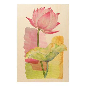Pink Lotus Flower Wall Art