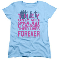 BREAKFAST CLUB/FOREVER - S/S WOMEN'S TEE - LIGHT BLUE - XL - LIGHT BLUE -