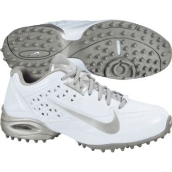 Nike Women's Air SpeedLax 4 Turf Lacrosse Cleat - White/Silver | DICK'S Sporting Goods