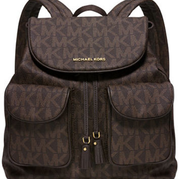 MICHAEL Michael Kors Signature Large Flap Backpack, a Macy's Exclusive Style