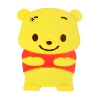 New 3D Cute Disney Winnie The Pooh Bear Soft Silicone Case Cover for Apple Ipad Mini