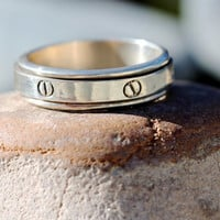 Sterling Silver Spinner Ring size 15