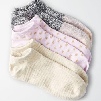 AEO Shortie Socks 3-Pack, Purple