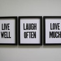Live Well Laugh Often Love Much Letterpress by happydeliveries