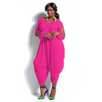 Harem Style Jumper/Romper Plus Size Up to 3X