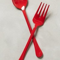 Enamelwork Serving Set by Anthropologie in Cherry Size: Set Of 2 Serveware