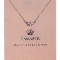 Women's Lotus Pendant Namaste Necklace by Shagwear