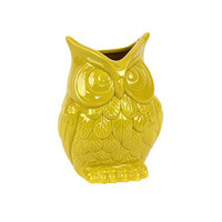 Sunny Owl Vase in Yellow - Small