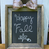 Rustic 8x10 Chalkboard, Baby Shower, Bridal Shower, Wedding Sign, Baby Photo Prop, Hostess Gift, French Home Decor, Autumn, Shabby Chic
