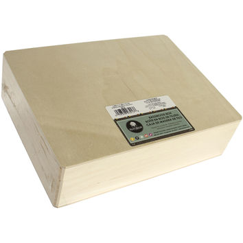 "Basswood Hinged Cornice Box-12""""X3.25""""X9"""""