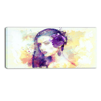 Elegant Lady Abstract Canvas Wall Art Print