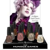 China Glaze Hunger Games 12 color Collection with Display