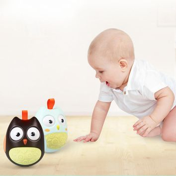 Baby Tumbler Owls Holding Rattles Puzzle Toys