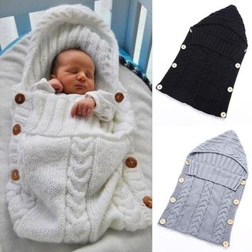 Newborn Baby Blanket Wrap Hand Crochet Sleeping Bag