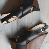 Bamboo Black Wooden Wedge