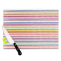 "Nika Martinez ""Summer Stripes"" Abstract Cutting Board"