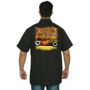 Men's Mechanic Work Shirt Rusty Bucket Auto Club