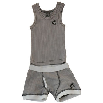 Skivvies Set - Light Grey