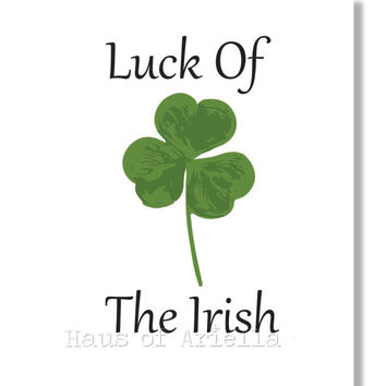 Irish Shamrock Art Print, Luck of the Irish Decor, St. Patrick's Day, Ireland Art