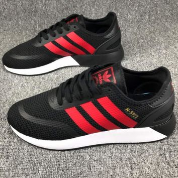 adidas iniki Fashion Casual Women Men Running Sport Casual Shoes Sneakers Black Red LineG-CSXY