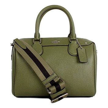 COACH MINI BENNETT SATCHEL IN CROSSGRAIN LEATHER WITH WEBBED STRAP, F11808