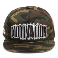 Shark Bite Snapback Hat Camo