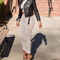 FLAWLESS Grey Sleeveless Turtleneck iAMMI 2 Piece Set (C)