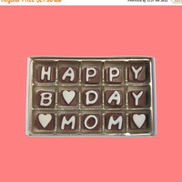 Birthday Gift for Women Mother in Law Mommy Mummy Mama Happy B Day Mom Cubic Chocolate Message Letters Gourmet Cute Funny Unique Romantic