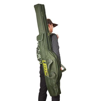 LEO 1M/1.5M Fishing Bags Portable Folding Fishing Rod Carrier Canvas Fishing Pole Tools Storage Bag Case Fishing Gear Tackle