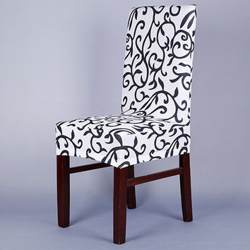 Nice Quality Home Chair Cover Thickening Dining Chair Elastic Chair Cover Office Computer Housse Chaise