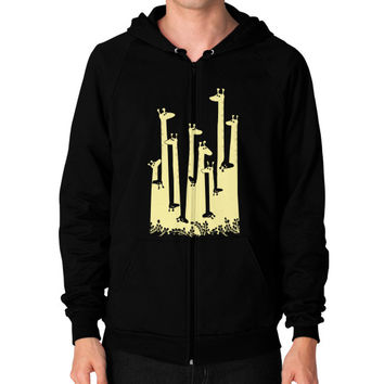 Giraffe Double Vision Zip Hoodie (on man) Shirt