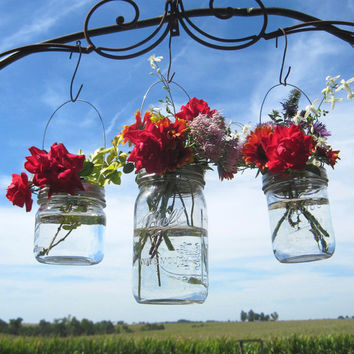 10 DIY Vase Hangers Wide Mouth Mason Jar Wedding Flower Frog LIDS, Ball Canning Jar Flower Vase Lids Only