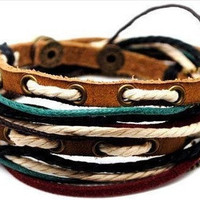 Jewelry Bangle bracelet women Leather Bracelet by braceletcool
