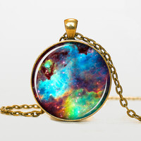 Omega Nebula pendant Omega Nebula necklace Omega Nebula jewelry galaxy universe stars space gift for men for women