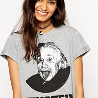Grey Short Sleeve Einstein Shirt