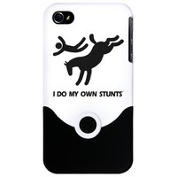 Horse I Do My Own Stunts iPhone Case