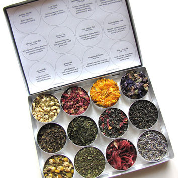 SALE- Herbal and green tea gift set- a beautiful gift for a tea lover. A thoughtful thank you gift or hostess gift.