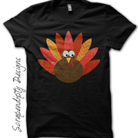 Thanksgiving Shirt - Boys Thanksgiving Outfit / Toddler Turkey Shirt / Kids Holiday Clothes / Newborn Baby First Thanksgiving / Black Shirt